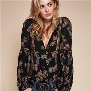 Free People Just The Two Of Us Boho Tunic Oversize